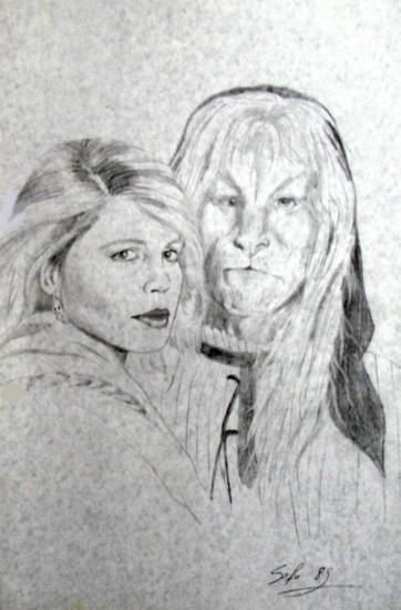 Linda Hamilton by wisewyn